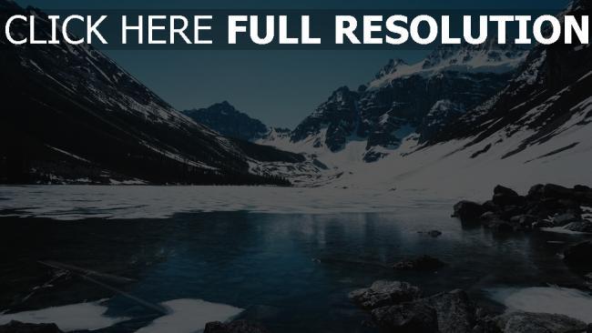 hd hintergrundbilder schnee eis berg see