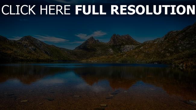 hd hintergrundbilder wasser himmel see berge