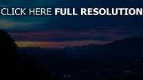 nacht berge himmel
