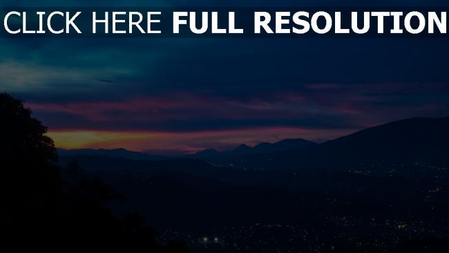 hd hintergrundbilder nacht berge himmel