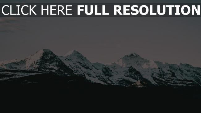 hd hintergrundbilder berge schnee gipfel