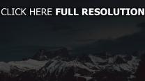 schnee gipfel berge