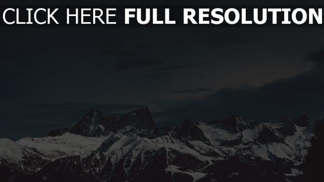 hd hintergrundbilder schnee gipfel berge