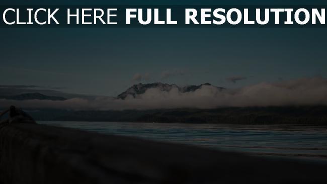 hd hintergrundbilder wolken berge meer