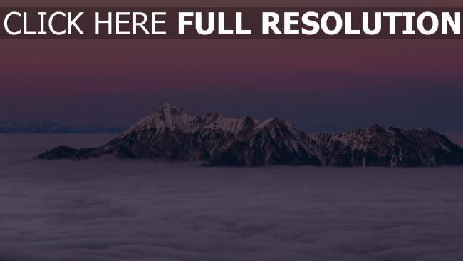 hd hintergrundbilder berge nebel spitzen wolken