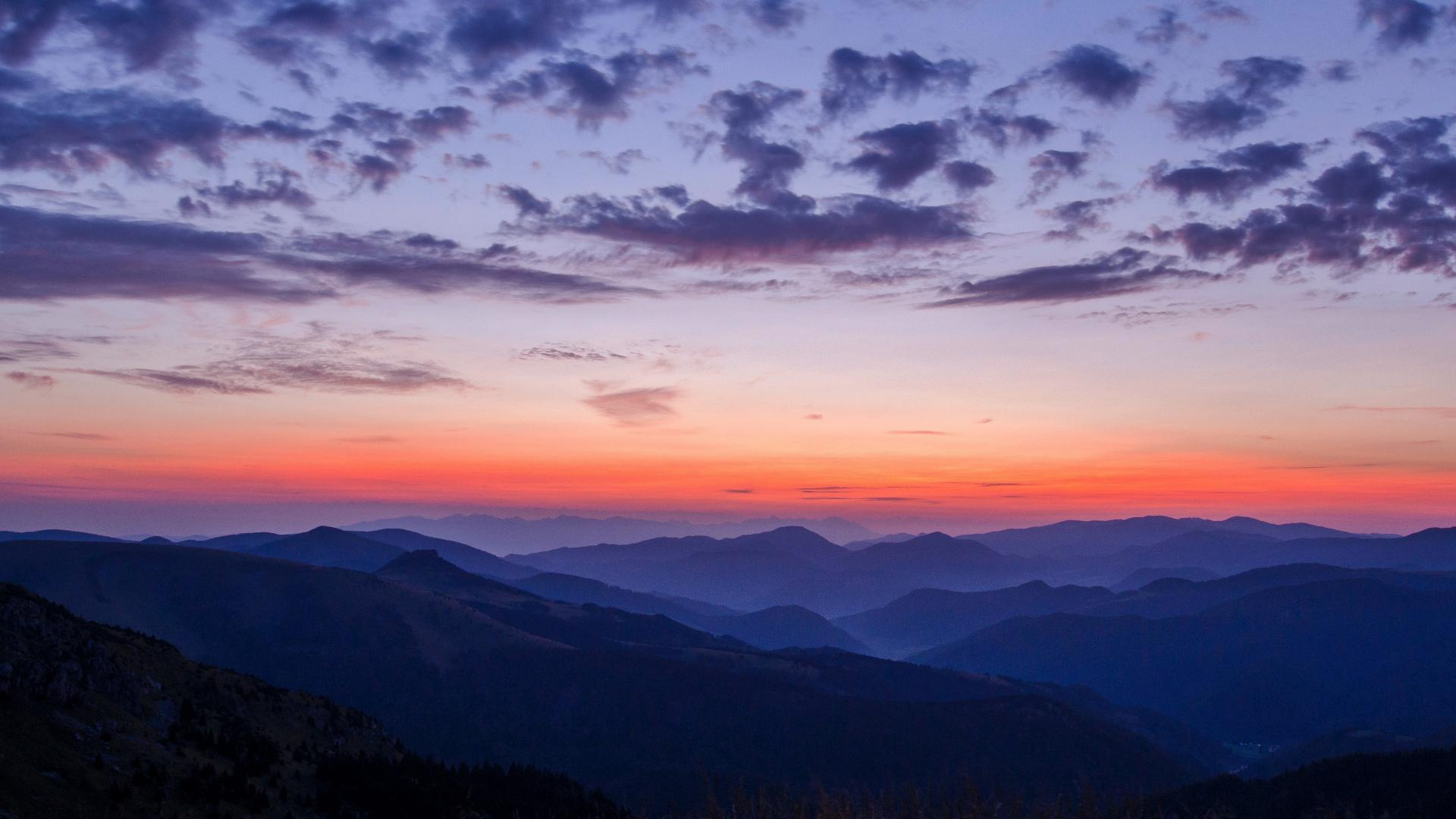hd hintergrundbilder himmel nebel berge wolken 1920x1080