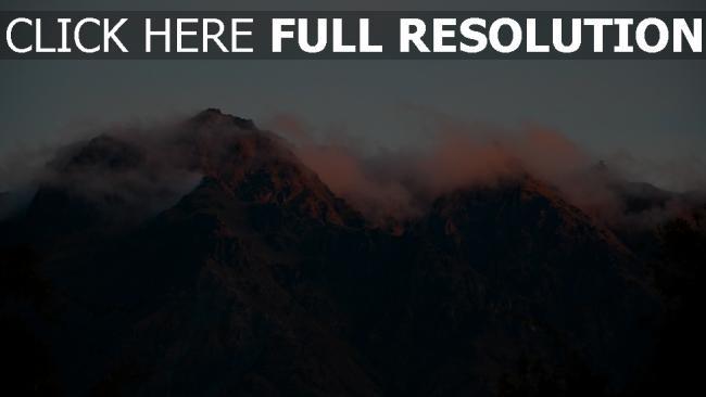 hd hintergrundbilder nebel berge himmel