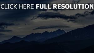 gipfel berge wolken