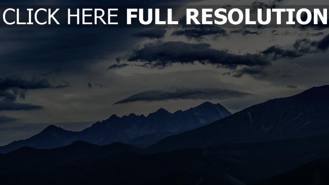 hd hintergrundbilder gipfel berge wolken