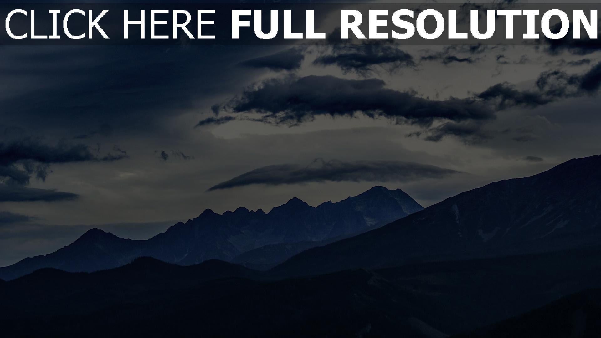 hd hintergrundbilder gipfel berge wolken 1920x1080