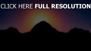 himmel berge licht sonnenuntergang