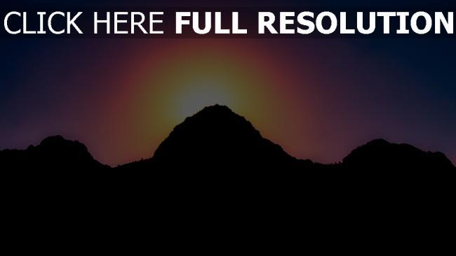 hd hintergrundbilder himmel berge licht sonnenuntergang