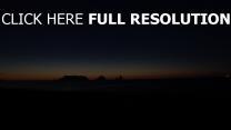 sonnenuntergang sterne nacht