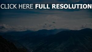 wolken berge gipfel himmel