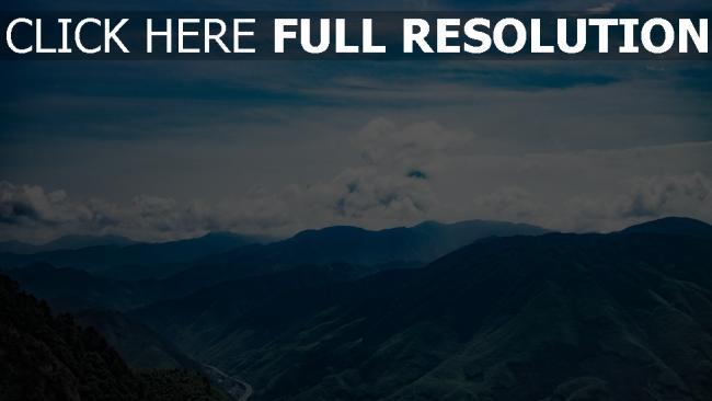 hd hintergrundbilder wolken berge gipfel himmel