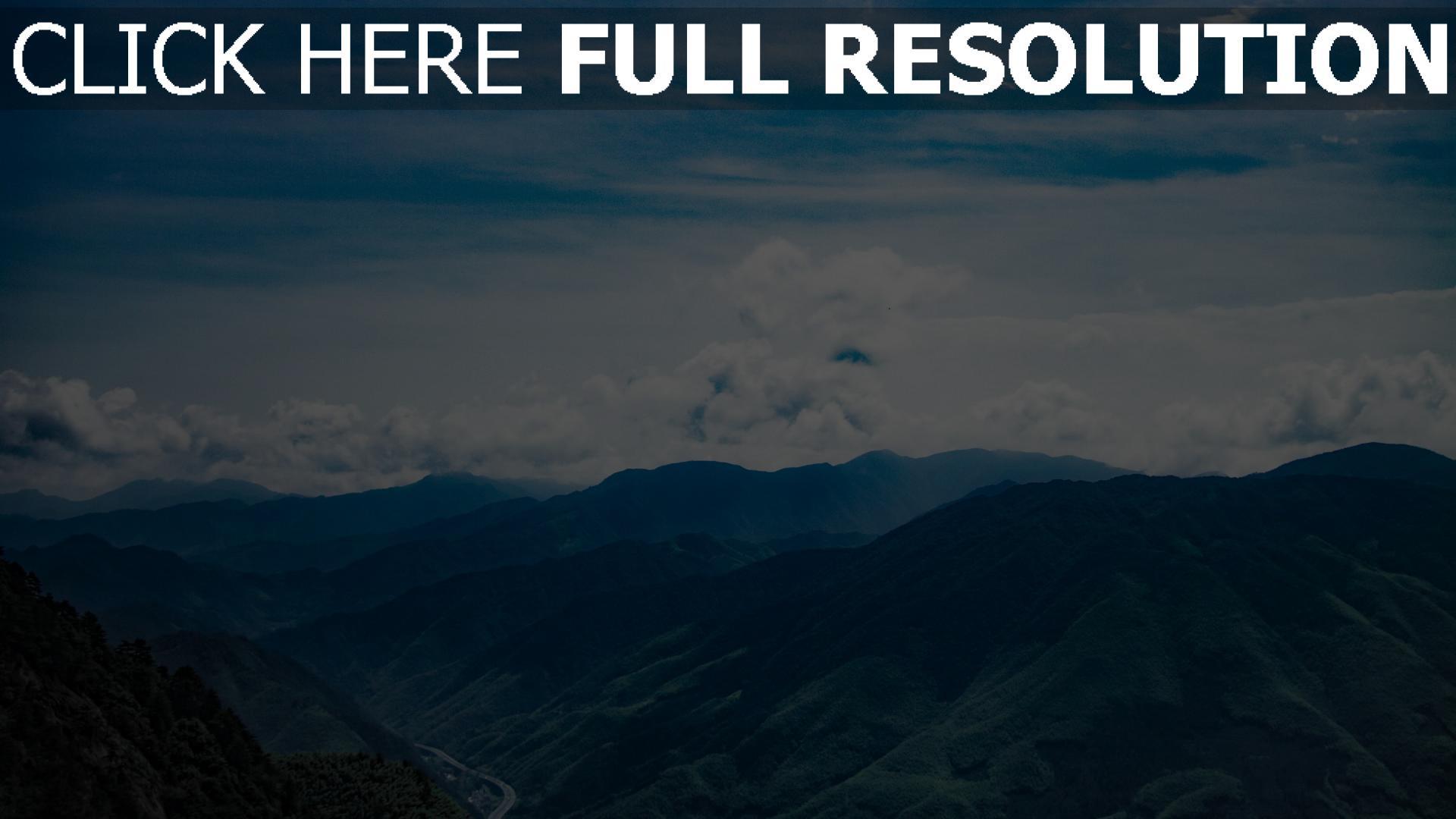 hd hintergrundbilder wolken berge gipfel himmel 1920x1080