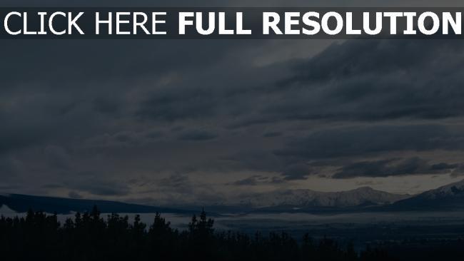hd hintergrundbilder himmel entfernung berge