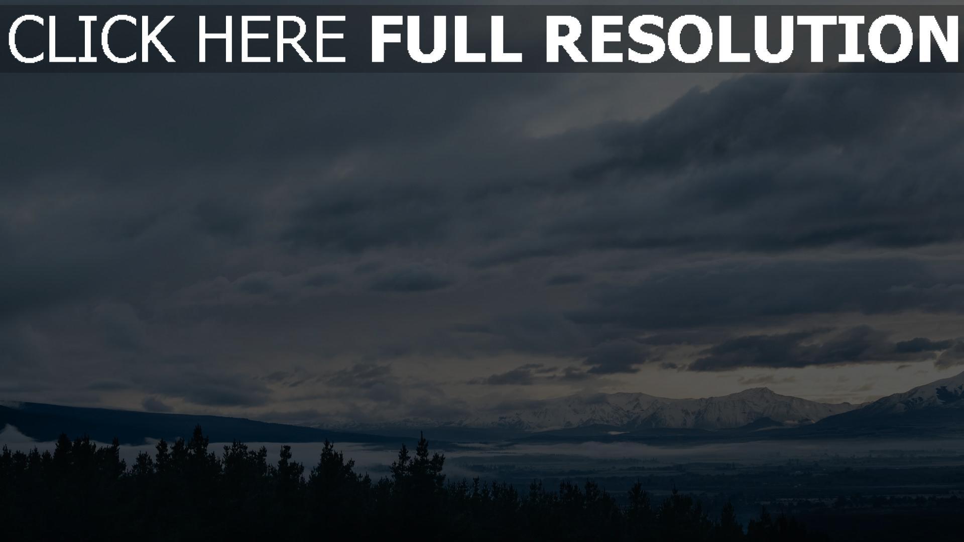 hd hintergrundbilder himmel entfernung berge 1920x1080