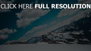 berge himmel schnee schneebedeckt