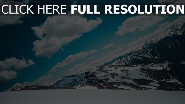 hd hintergrundbilder berge himmel schnee schneebedeckt