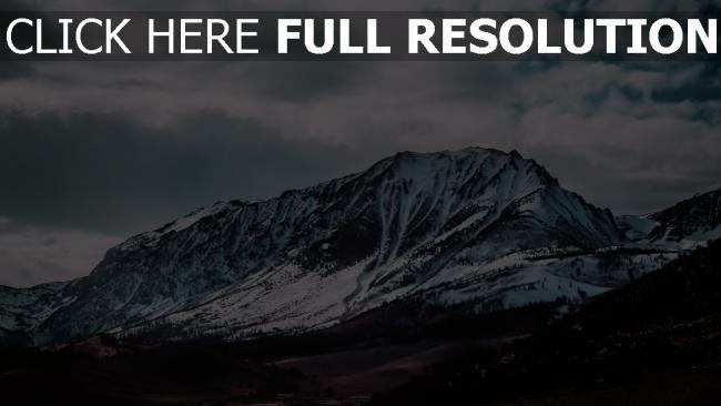 hd hintergrundbilder berge gipfel schneebedeckt