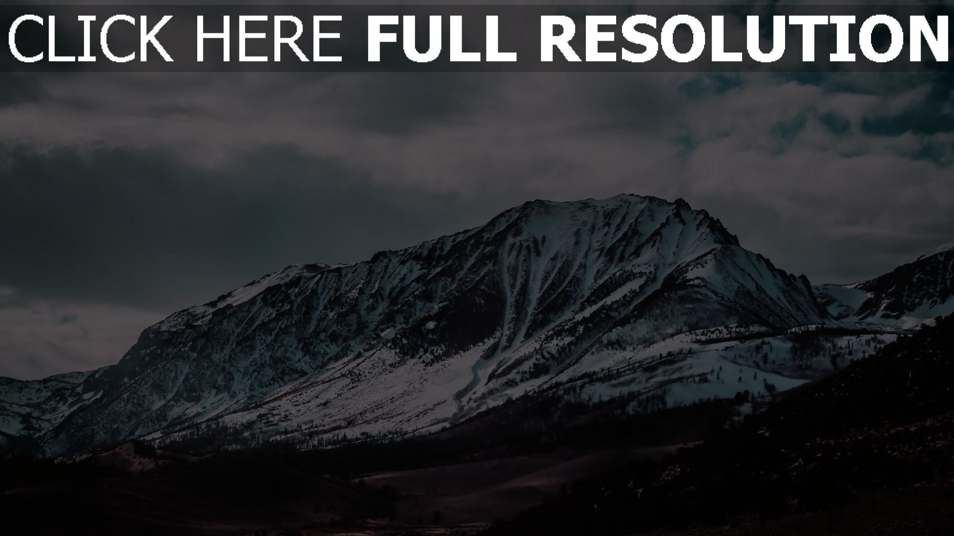 hd hintergrundbilder berge gipfel schneebedeckt 1920x1080