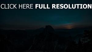 sternenhimmel berge hügel