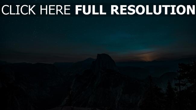 hd hintergrundbilder sternenhimmel berge hügel