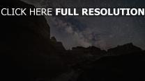 berge sterne sternenhimmel