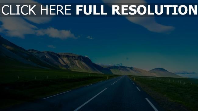 hd hintergrundbilder berge markierung himmel straße