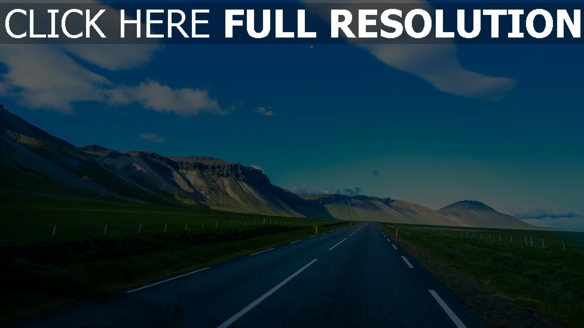 hd hintergrundbilder berge markierung himmel straße 1920x1080