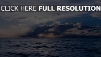 wolken meer horizont
