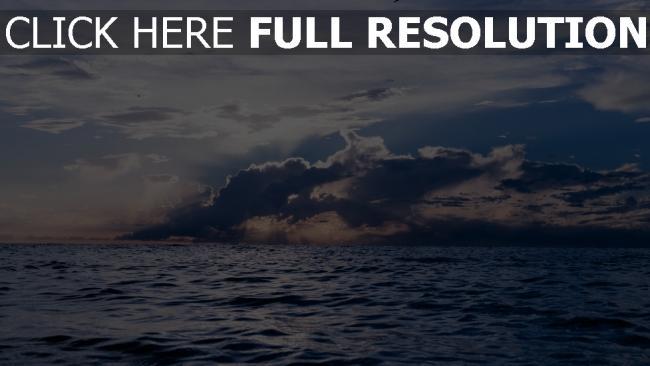 hd hintergrundbilder wolken meer horizont