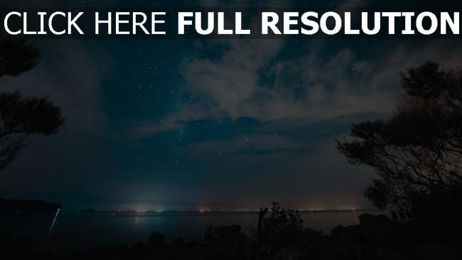 hd hintergrundbilder himmel nacht sternenhimmel fluss