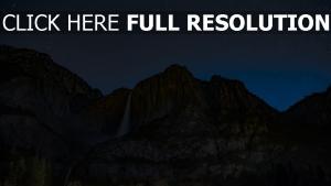 wasserfall abgrund sternenhimmel