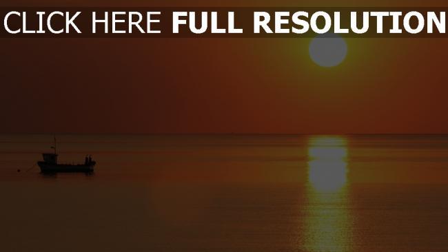 hd hintergrundbilder sonne horizont sonnenuntergang meer