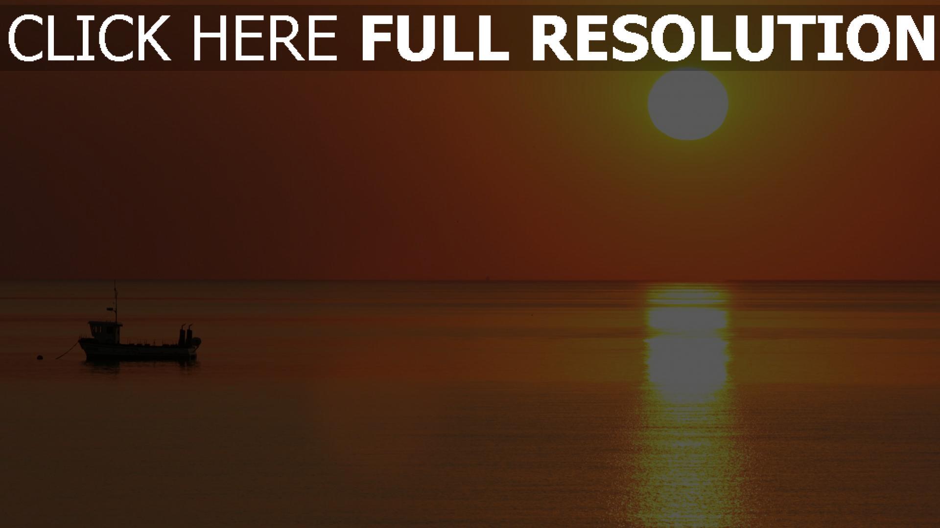 HD Hintergrundbilder sonne horizont sonnenuntergang meer ...