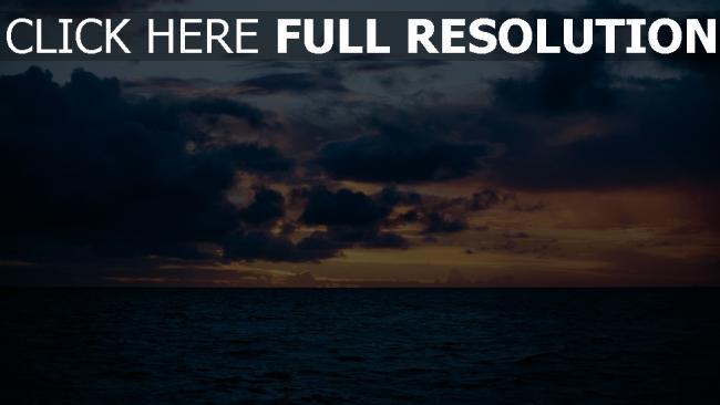 hd hintergrundbilder himmelslinie meer wolken