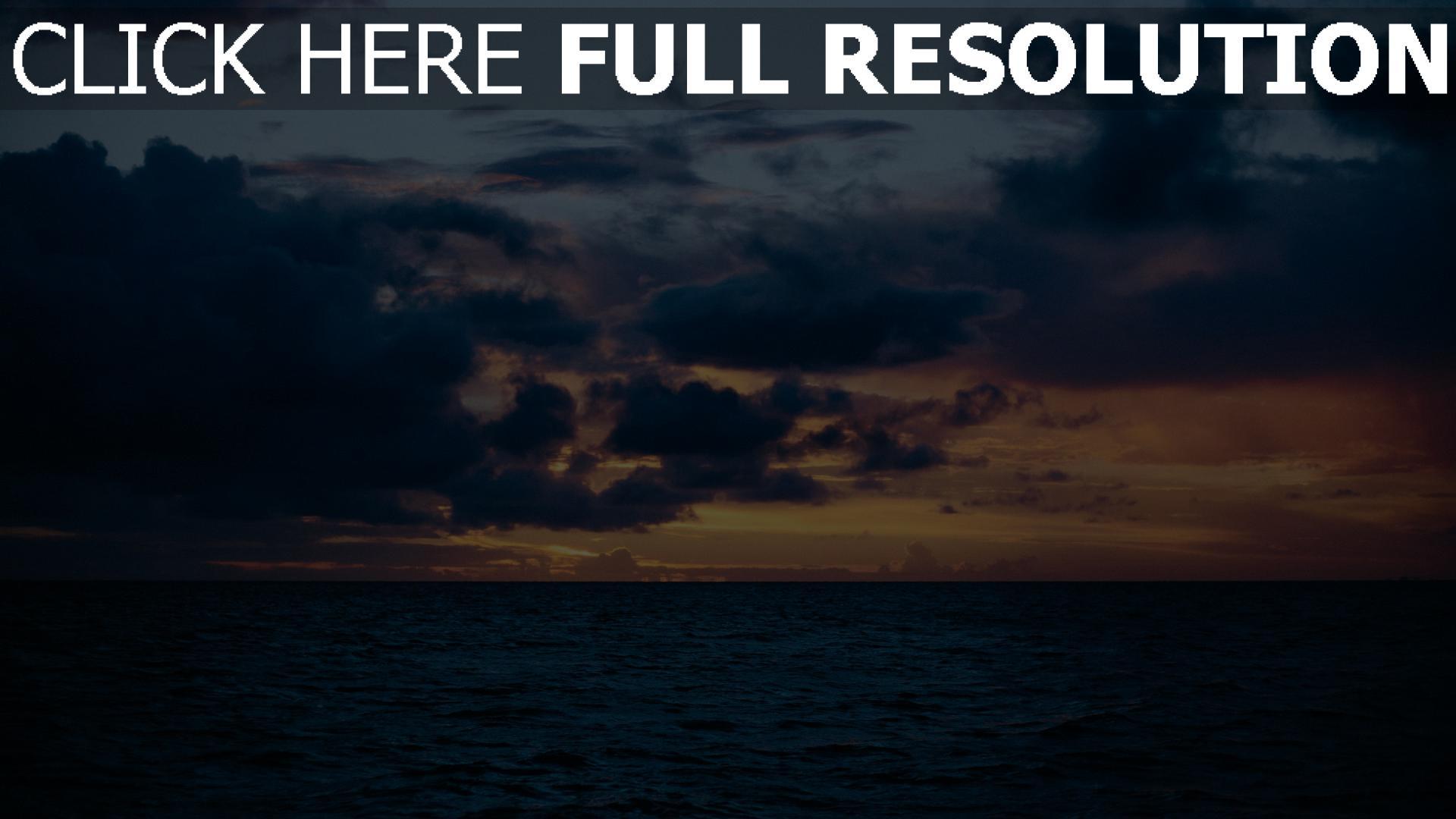 HD Hintergrundbilder himmelslinie meer wolken, desktop ...