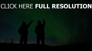 silhouetten nacht sternenhimmel