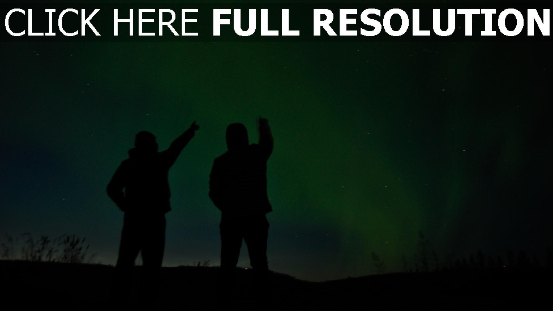hd hintergrundbilder silhouetten nacht sternenhimmel 1920x1080