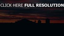 sonnenuntergang bewölkt wolken gebäude himmel