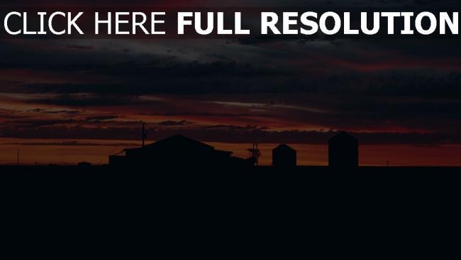hd hintergrundbilder sonnenuntergang bewölkt wolken gebäude himmel