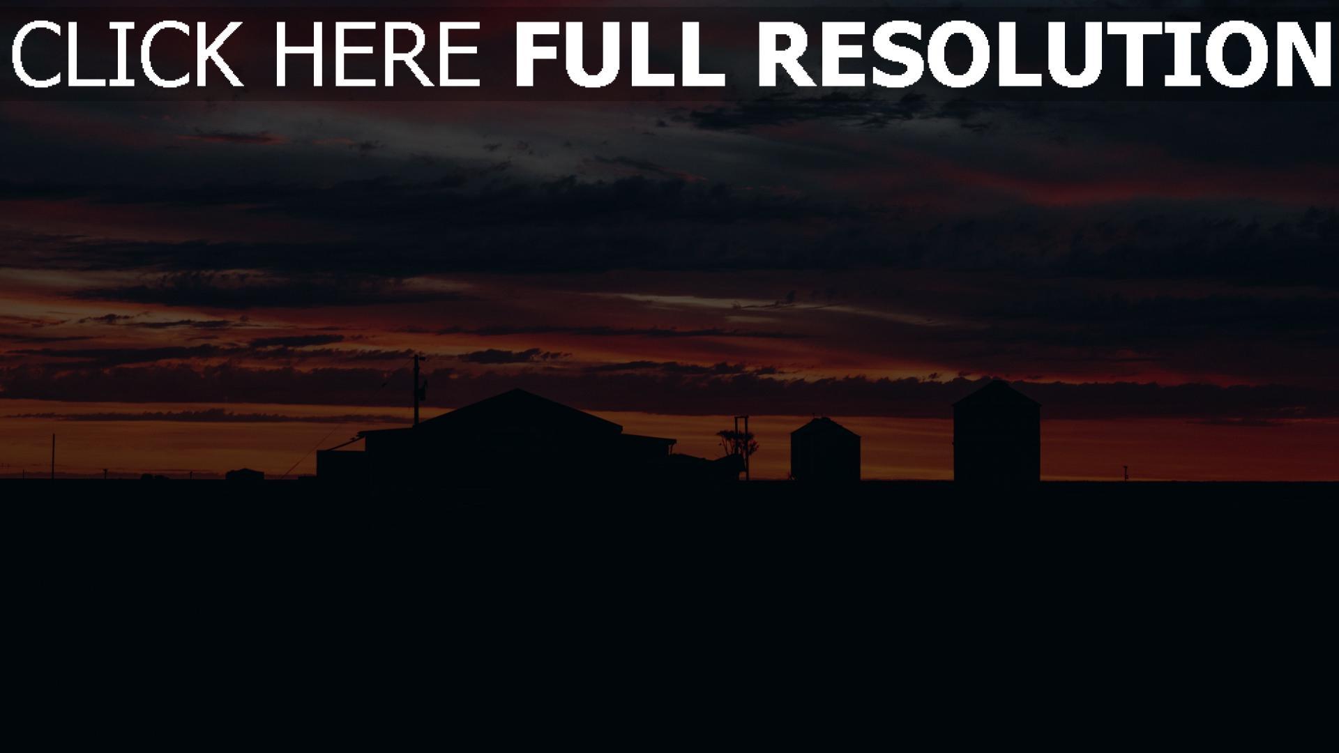 hd hintergrundbilder sonnenuntergang bewölkt wolken gebäude himmel 1920x1080