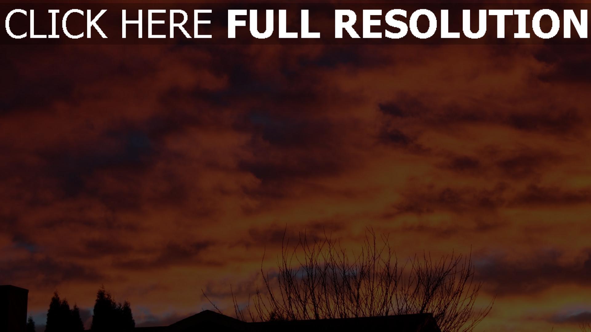 hd hintergrundbilder himmel wolken sonnenuntergang 1920x1080
