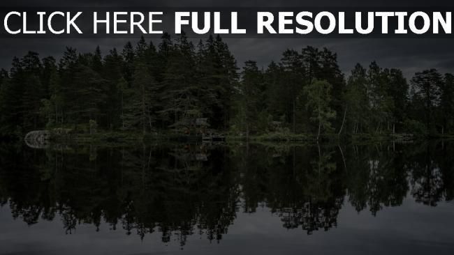 hd hintergrundbilder see bäume reflexion