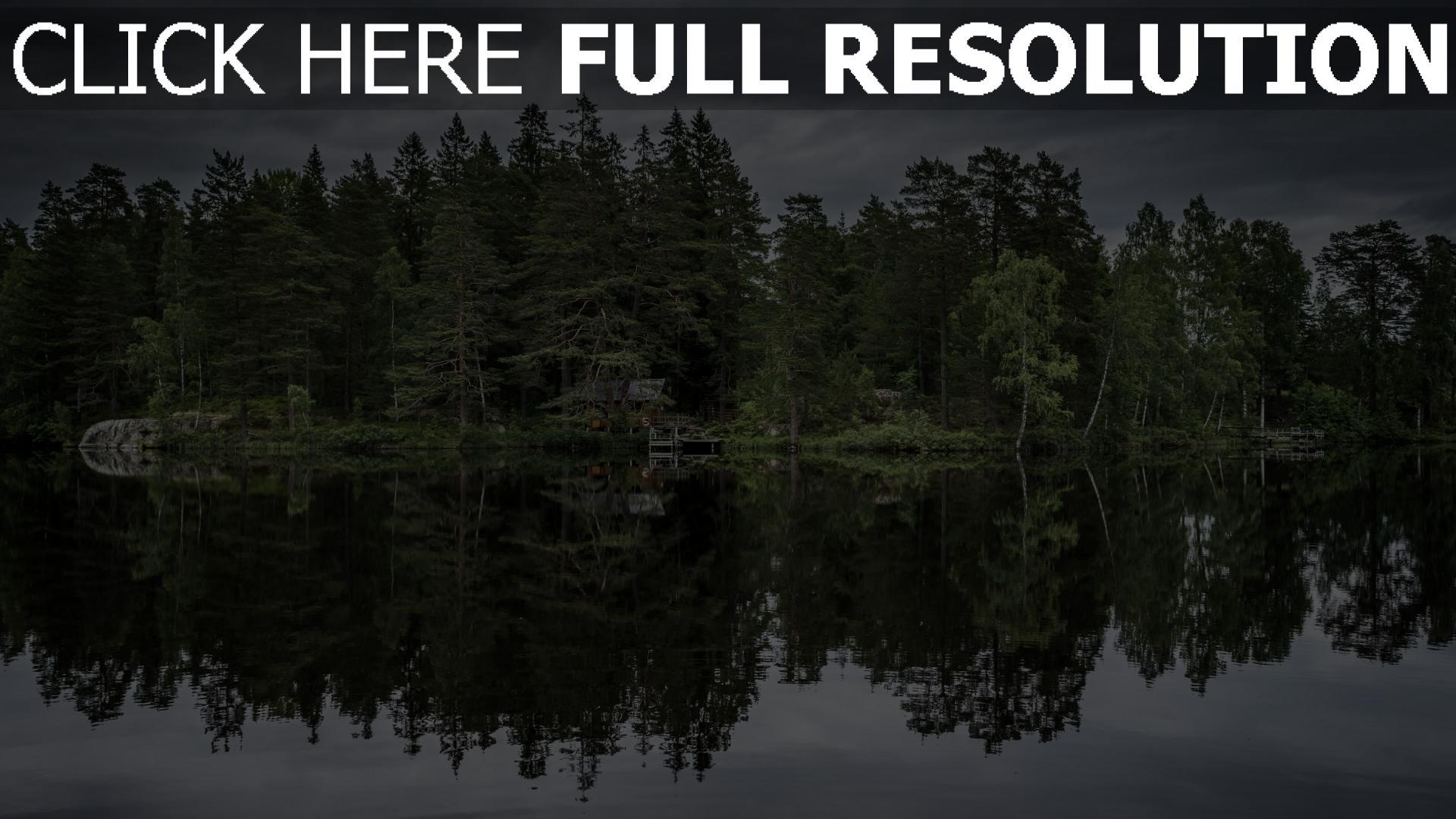 hd hintergrundbilder see bäume reflexion 1920x1080