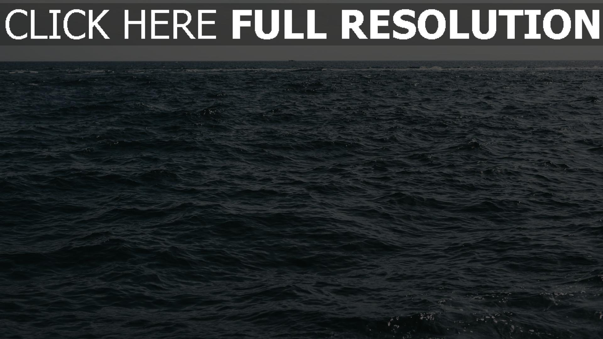 hd hintergrundbilder wellen wasser horizont meer 1920x1080