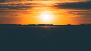 gras sonnenuntergang feld himmel