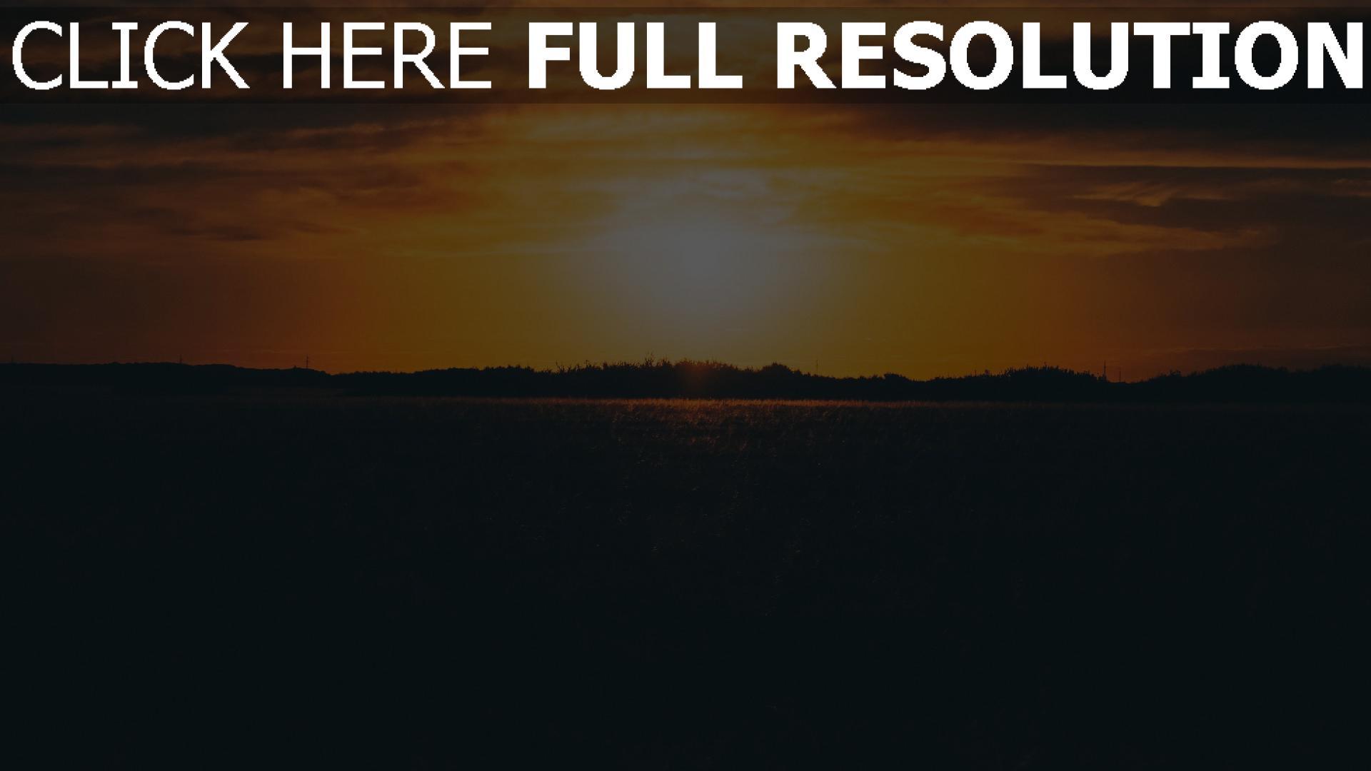 hd hintergrundbilder gras sonnenuntergang feld himmel 1920x1080